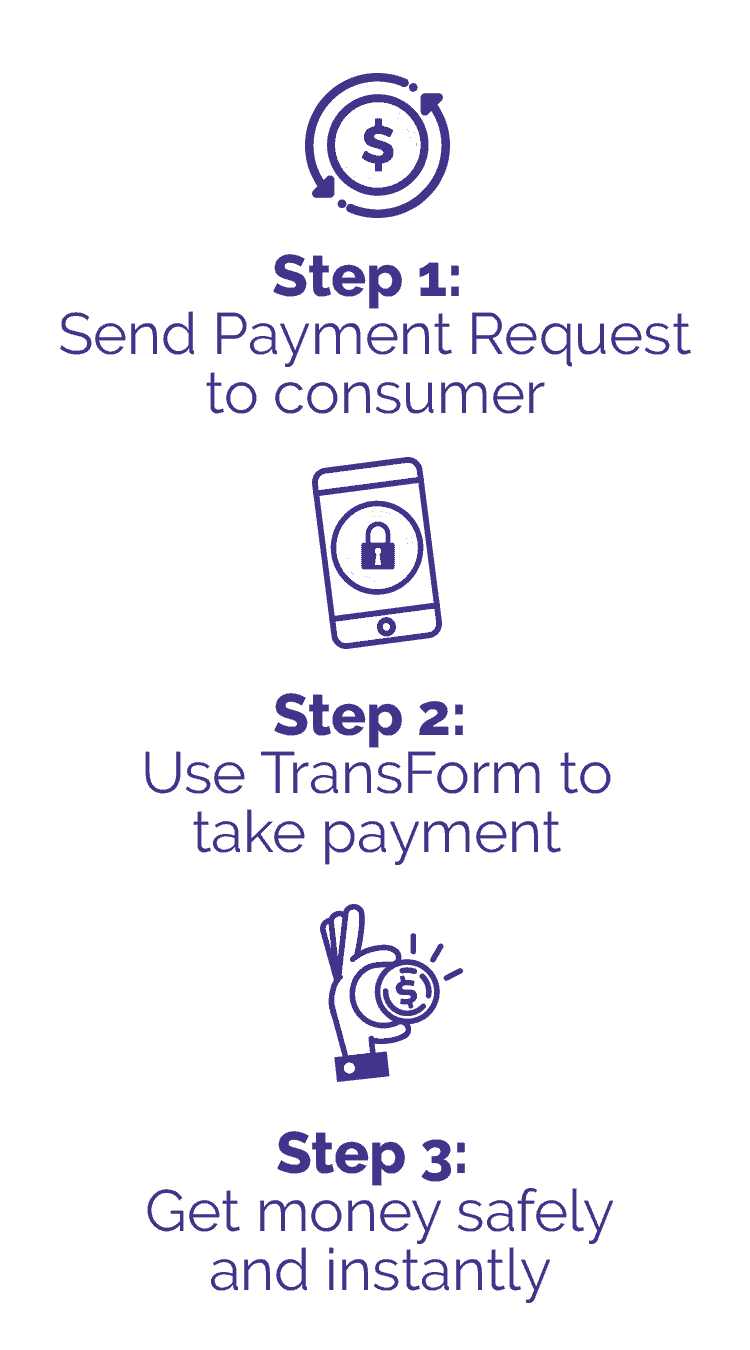 steps for making payment with TransForm
